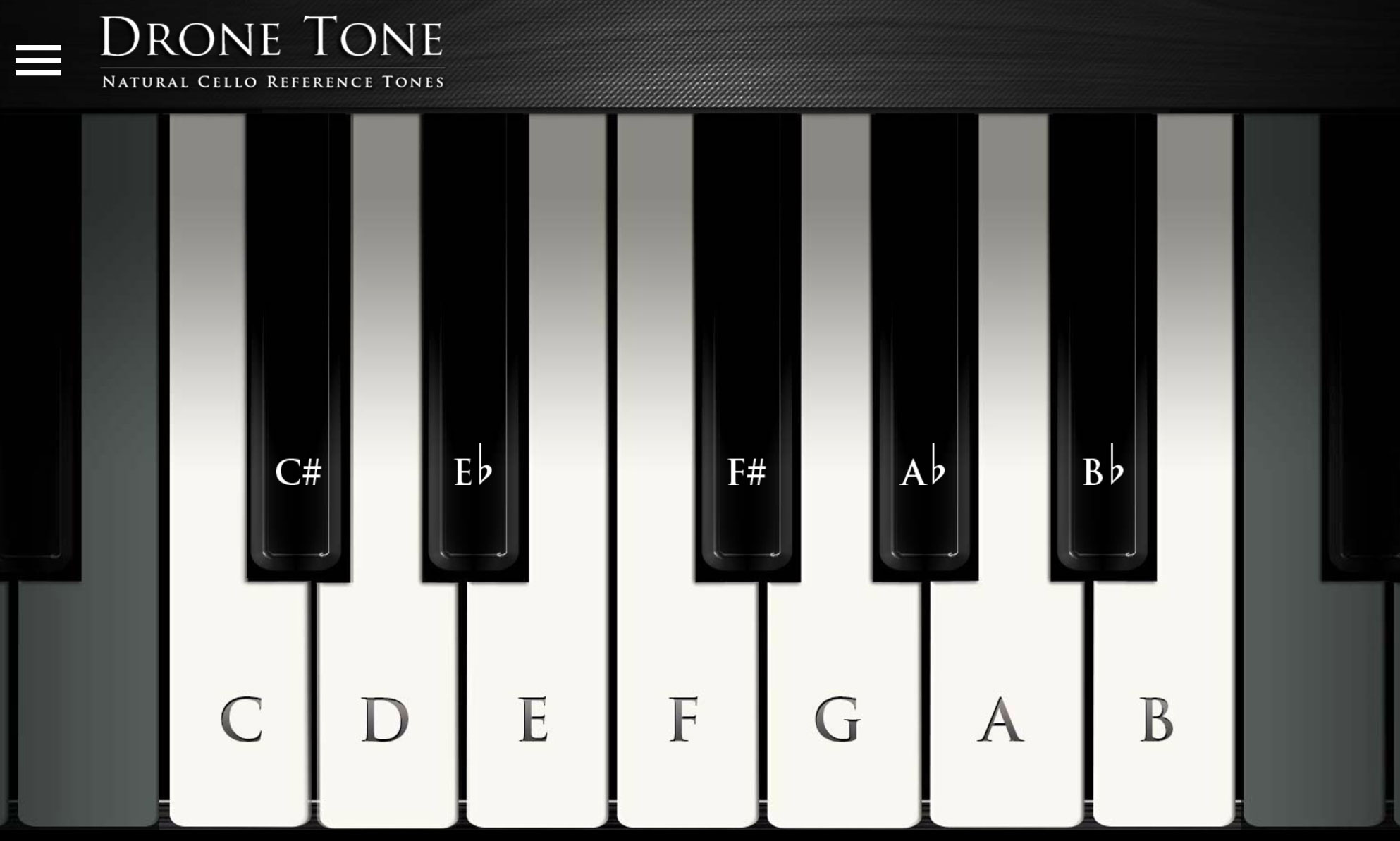 Natural Cello Reference Tones | Online Tuning Tools For